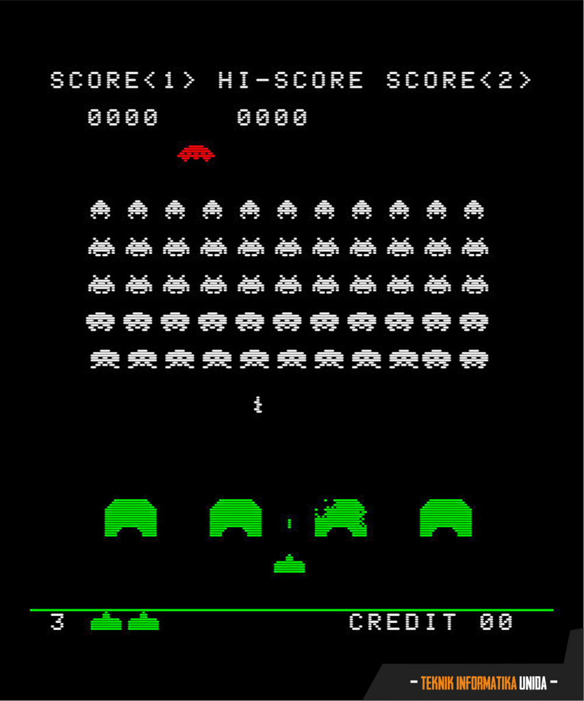 Sreenshoot dari Space Invaders